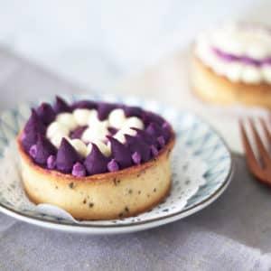 紫心地瓜楓糖塔