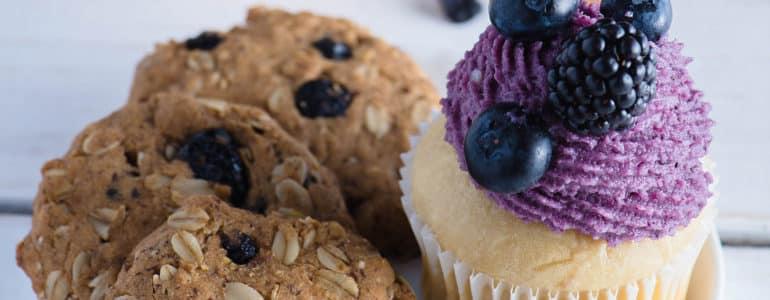 檸檬藍莓杯子蛋糕