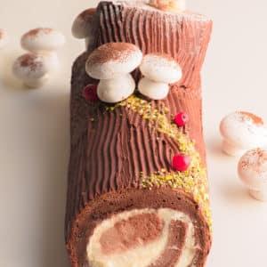 聖誕巧克力木柴蛋糕