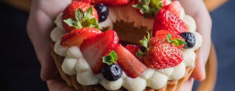 冬季草莓塔