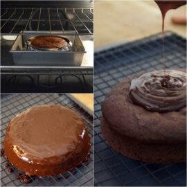 趁熱淋在蛋糕表面