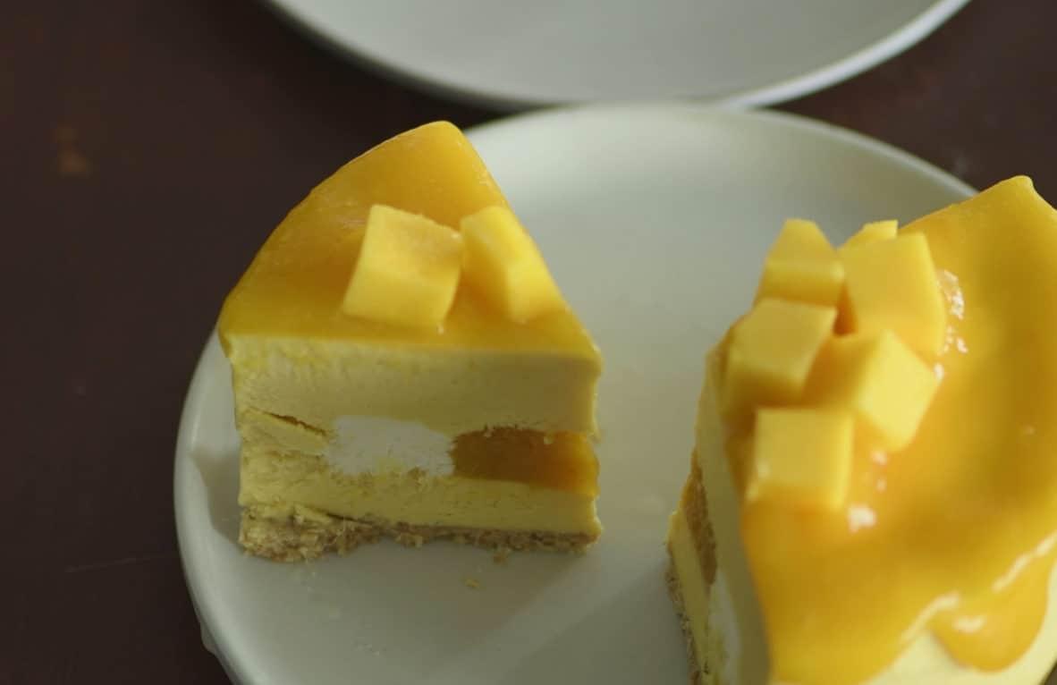 免烤芒果起士蛋糕