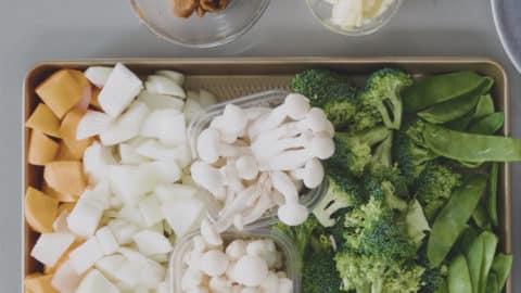 野菇味噌豆乳鍋作法1