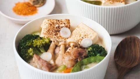 野菇味噌豆乳鍋