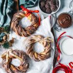聖誕花圈巧克力麵包