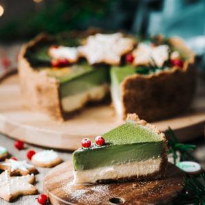 雙層抹茶布蕾起司蛋糕