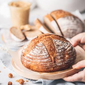 免揉歐式麵包&焦糖核桃乳酪抹醬